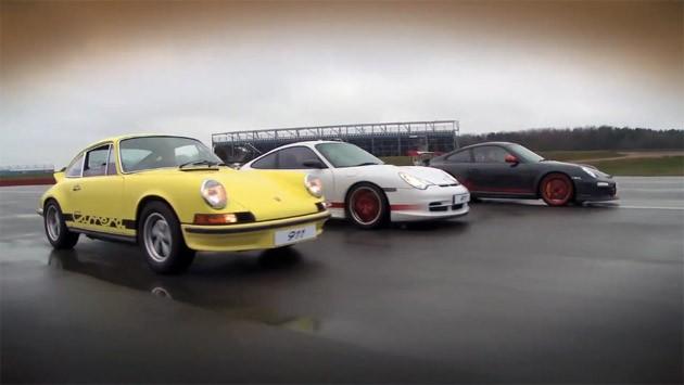 Trzy generacje Porsche RS