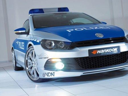 Policyjny VW Scirocco