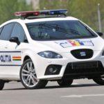 Policyjny Seat Leon Cupra